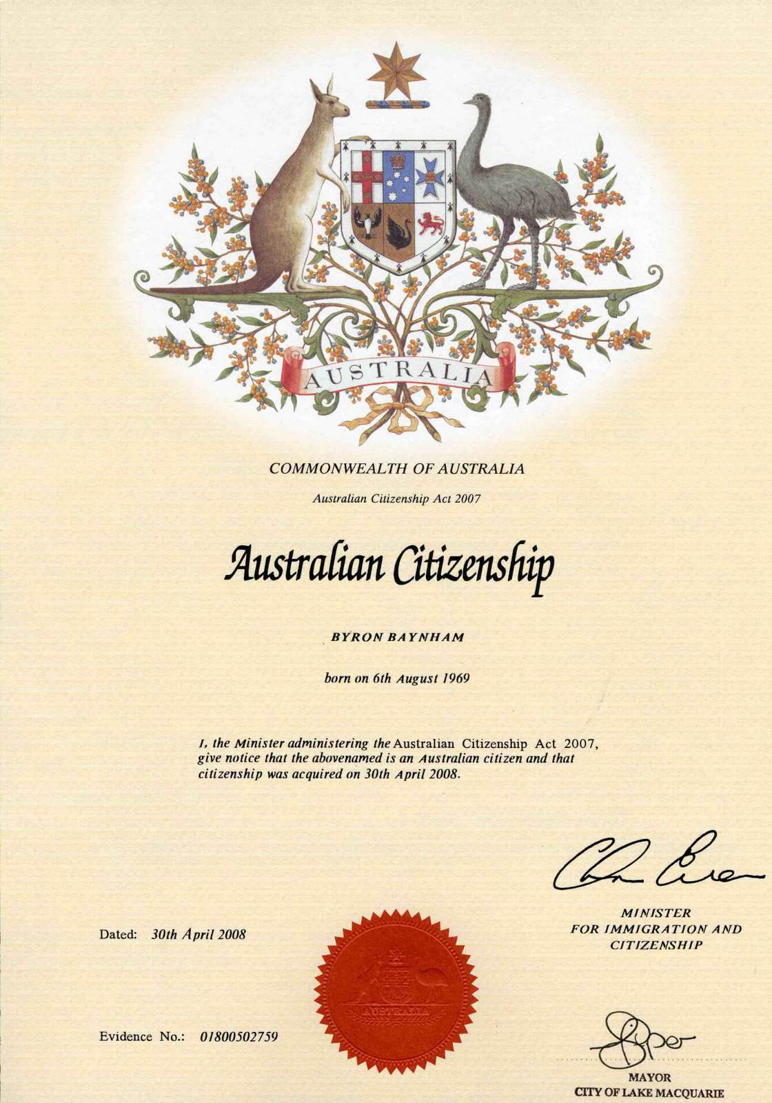 Lost Australian Citizenship Certificate Replacement Gallery Free
