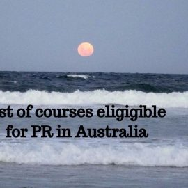 List of courses eligible for pr in Australia 2017