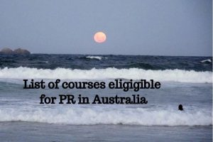 List-of-courses-eligible-for-pr-in-Australia sea and red moon