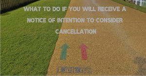 notice of intention to consider cancellation what to do